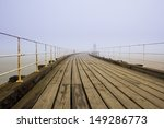 Whitby West Pier In Thick Fog
