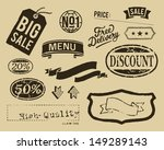 vintage sale graphic elements...
