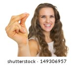 closeup on smiling young woman... | Shutterstock . vector #149306957