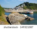 looe cornwall england with blue ... | Shutterstock . vector #149321087