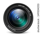 camera lens isolated on white...   Shutterstock .eps vector #149334353