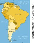 map of south america. political ... | Shutterstock . vector #149340407