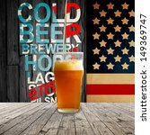 fresh cold beer given in... | Shutterstock . vector #149369747