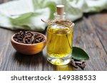 oil of cloves in a glass bottle ... | Shutterstock . vector #149388533