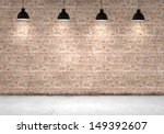 Blank Brick Wall With Place Fo...