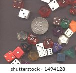 dices and money | Shutterstock . vector #1494128