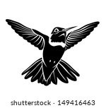 black bird hummingbird on a... | Shutterstock .eps vector #149416463