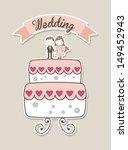 wedding design over pink... | Shutterstock .eps vector #149452943