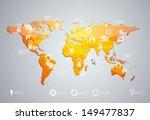 3d vector world map...   Shutterstock .eps vector #149477837