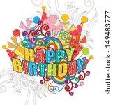 birthday poster | Shutterstock .eps vector #149483777