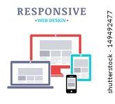 responsive web design on... | Shutterstock .eps vector #149492477