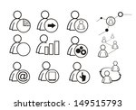 human icons | Shutterstock .eps vector #149515793