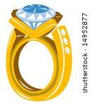 diamond gold ring | Shutterstock . vector #14952877