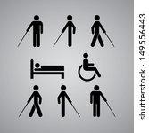 disability symbol on gray... | Shutterstock .eps vector #149556443