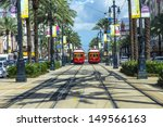 Small photo of NEW ORLEANS, USA - JULY 17: New Orleans Streetcar Line, July 17, 2013. Newly revamped after Hurricane Katrina in 2005, the New Orleans Streetcar line began electric operation in 1893.