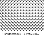 White Scale Pattern. Vector