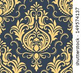 vector damask seamless pattern...   Shutterstock .eps vector #149574137