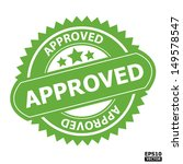 approved rubber stamp sign....