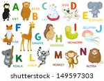 animals abc  letter a n.... | Shutterstock .eps vector #149597303