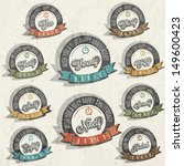 anniversary sign collection and ... | Shutterstock .eps vector #149600423