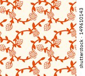 seamless pattern with red... | Shutterstock . vector #149610143