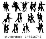 silhouettes of dancing people | Shutterstock . vector #149616743