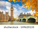 Big Ben With Autumn Leaves ...