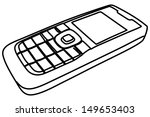 cell phone  mobile phone ... | Shutterstock .eps vector #149653403