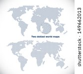 two dotted world maps | Shutterstock .eps vector #149662013