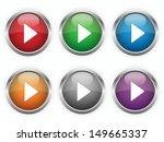 play web buttons set   Shutterstock .eps vector #149665337