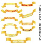set of welcome banners over... | Shutterstock .eps vector #149675843