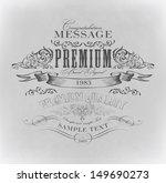 typography  calligraphic design ... | Shutterstock .eps vector #149690273