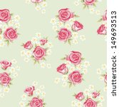 floral seamless vintage pattern.... | Shutterstock .eps vector #149693513
