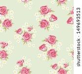 floral seamless vintage pattern.... | Shutterstock .eps vector #149693513
