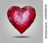 red heart vector made from... | Shutterstock .eps vector #149698943