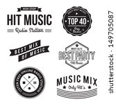 collection of music labels | Shutterstock . vector #149705087