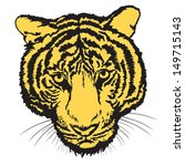 tiger sketch free hand with... | Shutterstock .eps vector #149715143