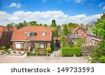 traditional dutch houses in the ... | Shutterstock . vector #149733593