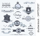 set of vintage elements | Shutterstock .eps vector #149752937