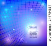 blue technology mesh background.... | Shutterstock .eps vector #149754857