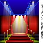 grand elegant entrance  red... | Shutterstock .eps vector #149763863