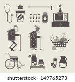 granny icons   Shutterstock .eps vector #149765273