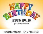 happy birthday | Shutterstock .eps vector #149783813