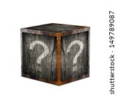 mystery box with question marks. | Shutterstock . vector #149789087