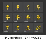geo tag pin icons. vector...