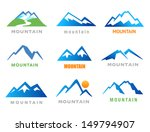 mountains icons | Shutterstock .eps vector #149794907