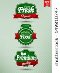 farm fresh food label  badge or ... | Shutterstock .eps vector #149810747