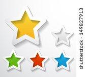 set of paper stars   Shutterstock .eps vector #149827913