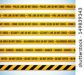 police line and danger tapes....   Shutterstock .eps vector #149839343