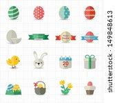 celebration easter icons | Shutterstock .eps vector #149848613